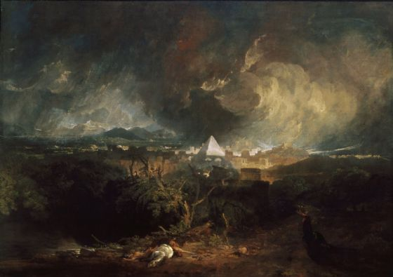 Turner, Joseph Mallord William: The Fifth Plague of Egypt. Fine Art Print/Poster. Sizes: A1/A2/A3/A4 (004054)